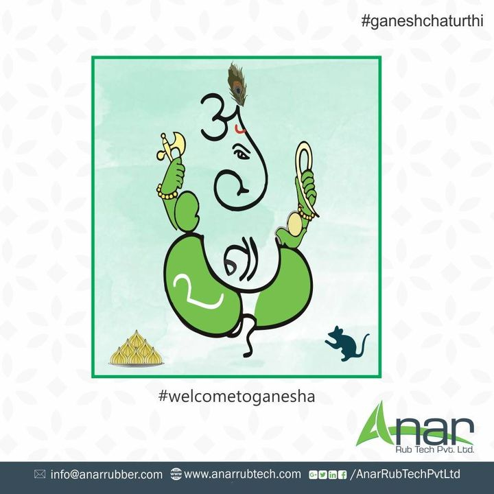 May Lord Ganesha bestow you power, destroy your sorrow and enhance happiness in your life. Happy Ganesh Chaturthi!! #RubberRollerManufacturer  #RubberRollerExporters  #RubberRollerSuppliers