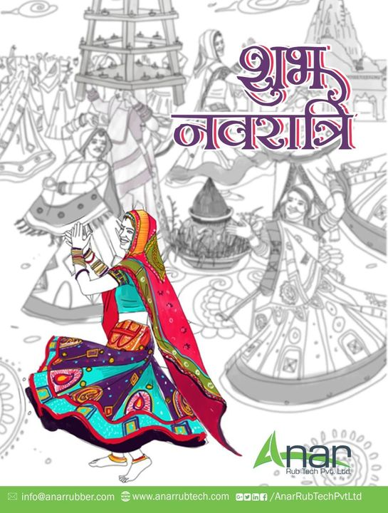 Happy Navratri! May the beats of dandiya fill your life with joy and happiness.  #happynavratri #RubberRollerManufacturer  #RubberRollerExporters  #RubberRollerSuppliers