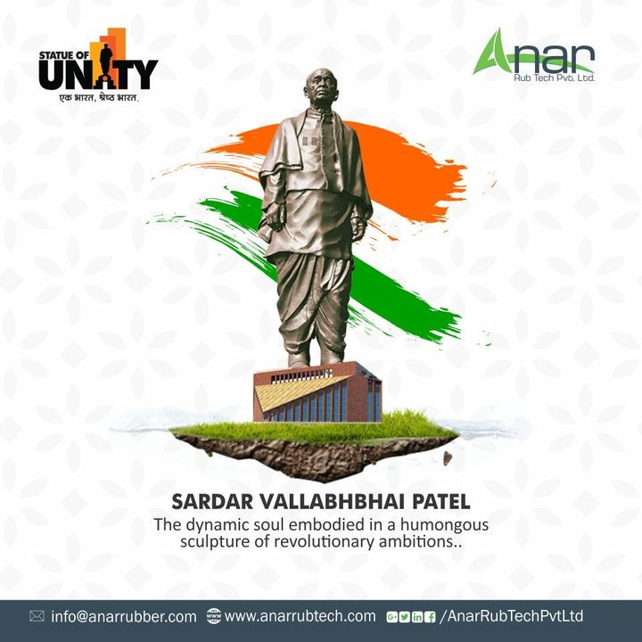 India is now home to the world's tallest statue, dedicated to the #IronMan of India, #SardarVallabhbhaiPatel.  #anarrubtech