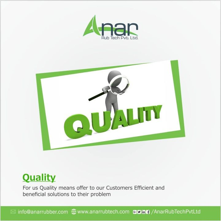 It is quality rather than quantity that matters ! #AnarRubTech #QuoteOfTheDay