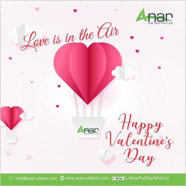 Love is like the wind, you can't see it, but you can feel it. #HappyValentinesDay #AnarRubTech #RubberRollerManufacturer #RubberRollerExporters #RubberRollerSuppliers