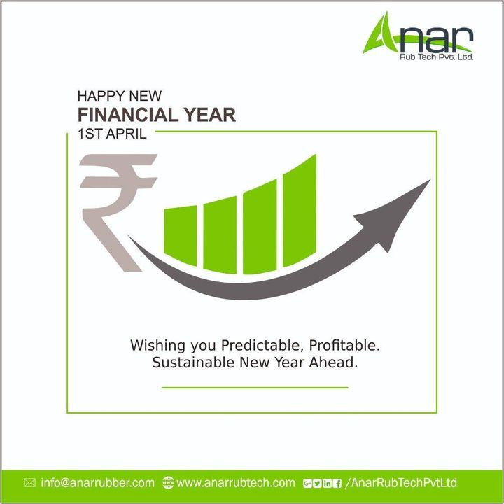 Its time again to always look forward,  Let this coming financial year gives you strength to always move towards your goals, happy financial year 2019-20 !! #HappynewFinancialyear #AnarRubTech #RubberRollerManufacturer #RubberRollerExporters #RubberRollerSuppliers