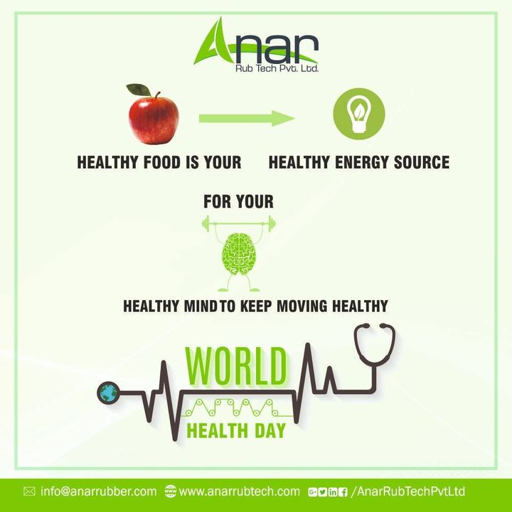 A good wealth cannot be enjoyed, if you do not have good Health. Let's be wise and lead a healthy life. #HappyWorldhealthday #AnarRubTech #RubberRollerManufacturer #RubberRollerExporters #RubberRollerSuppliers