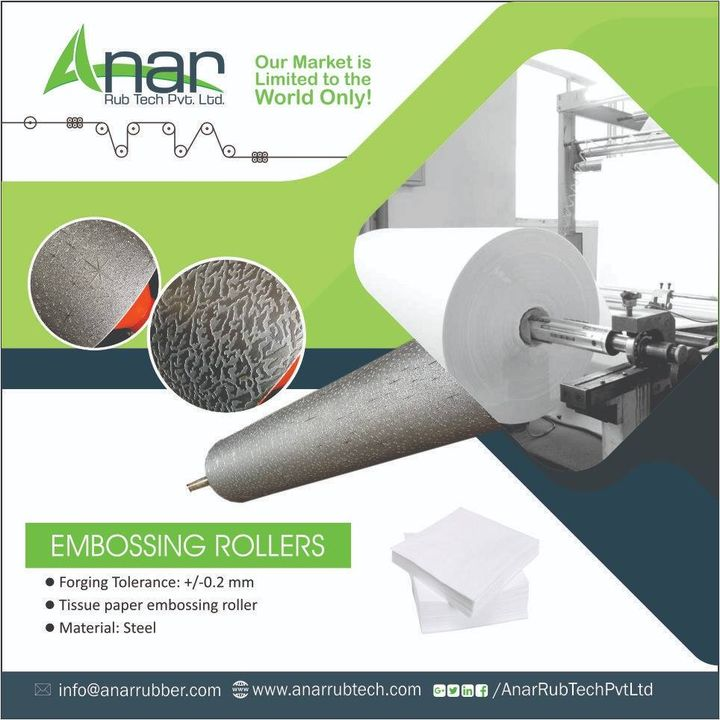 Are you looking for commendable range of embossing rollers ? Then here's we are with varied range of the same.  Visit us for more.   #AnarRubTech #EmbossingRollers