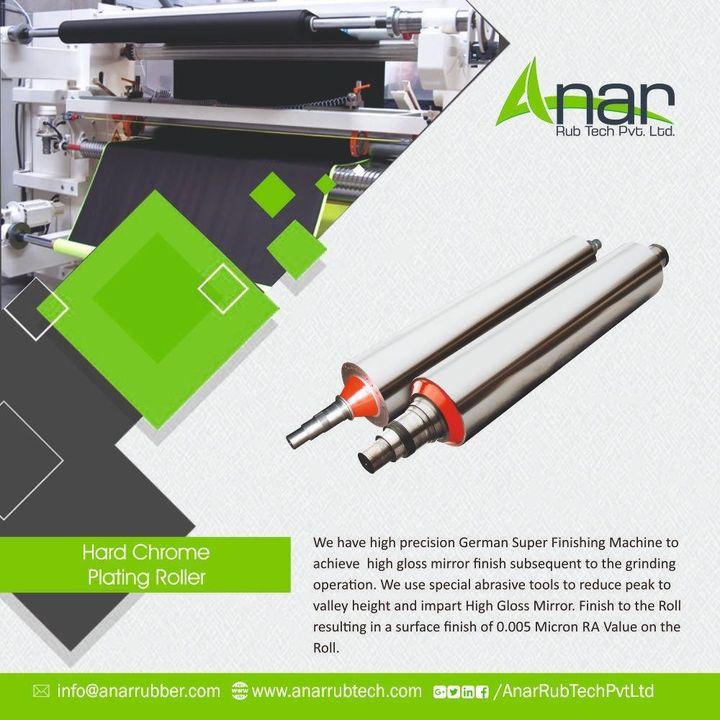 For your accurate and high precise results,  we have high precision machine that will get you gloss mirror finish subsequent. Contact us for the same. #AnarRubtech #HardChromePlatingRollar #rubberrollarmanufacturerinAhmedabad