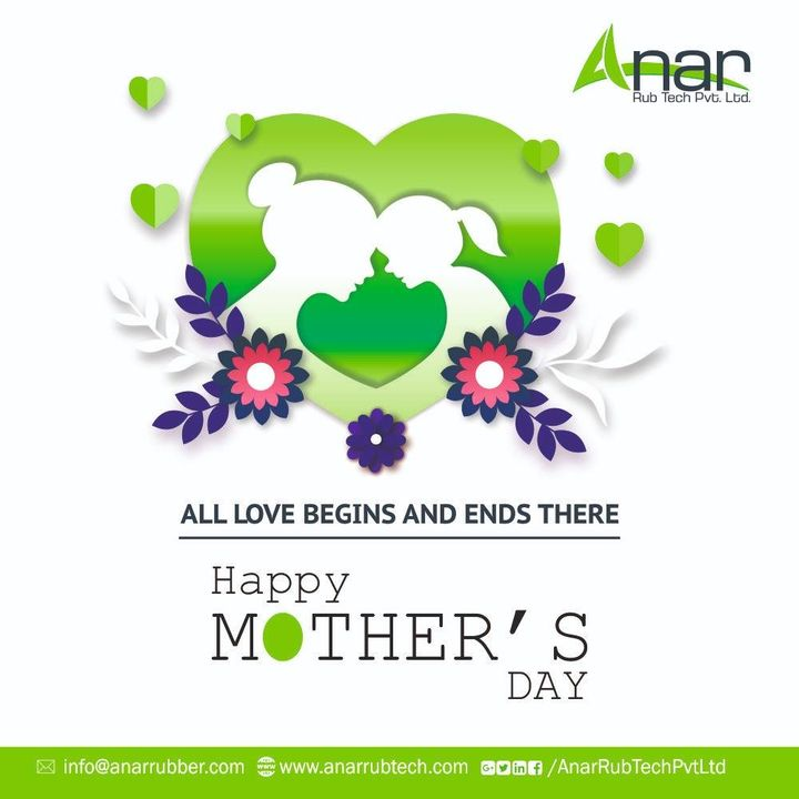 Wishing you all the love and happiness you so richly deserve. I hope you have a very happy Mother's Day! #HappyMothersDay #AnarRubTech #RubberRollerManufacturer #RubberRollerExporters #RubberRollerSuppliers