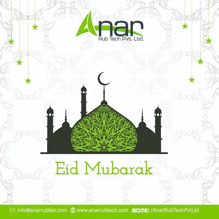 During this time of Eid,  May Allah open the bars of happiness, prosperity and peace for you. Eid Mubarak to you and your family. Enjoy a blessed evening.  #EidMubarak #AnarRubTech #RubberRollerManufacturer #RubberRollerExporters #RubberRollerSuppliers
