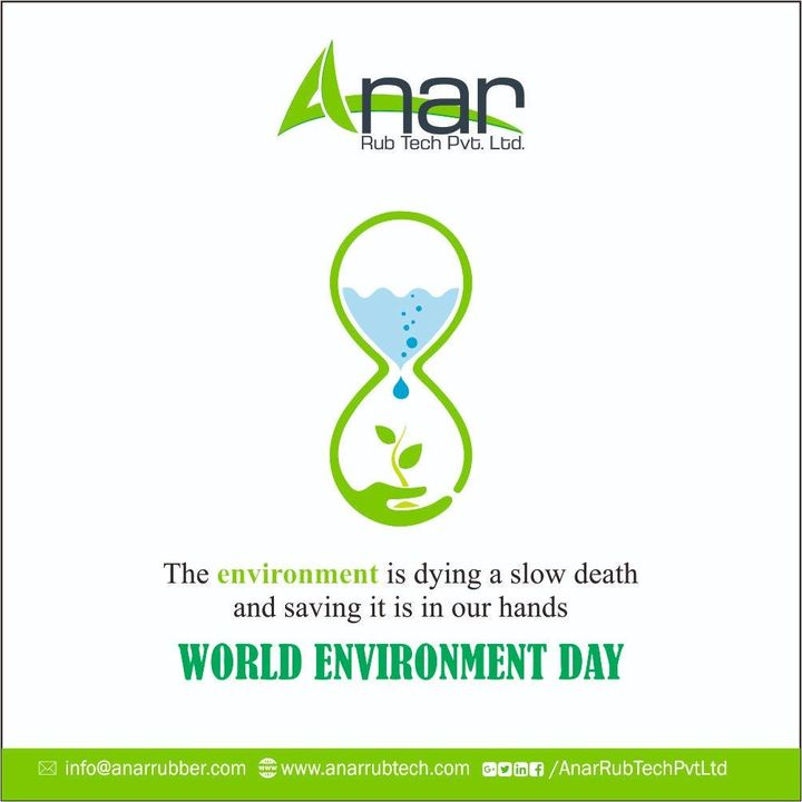 Environment is everything to us, we need to save it, don't spoil it. It's a gift, secure it. #WorldEnvironmentDay #SaveEarth #AnarRubTech #RubberRollerManufacturer #RubberRollerExporters #RubberRollerSuppliers
