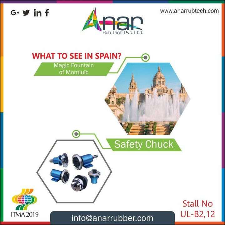 Epic Spain is just incomplete to visit, if you dont see this #ITMA2019 exhibition and the wonder products by Anar like safety chunk. #AnarRubTech #RubberRollerManufacturer #RubberRollerExporters #RubberRollerSuppliers