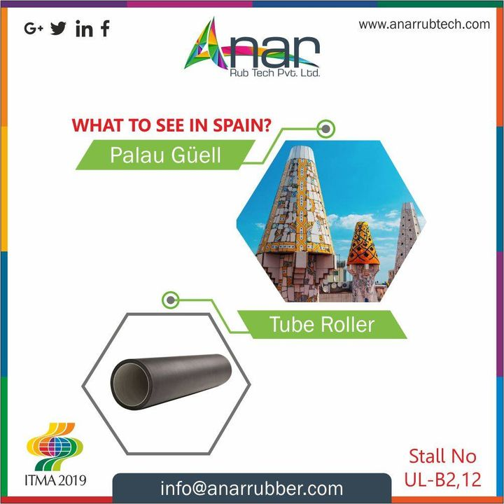 When you have already visited Spain and seen everything, don't miss out the chance to visit #ITMA2019 and the #TubeRoller products by Anar. #AnarRubTech #RubberRollerManufacturer #RubberRollerExporters #RubberRollerSuppliers