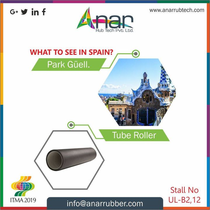 When you don't know what to see in Spain,  start with ITMA 2019 and the most definite products by Anne at stall no B12 #AnarRubTech #RubberRollerManufacturer #RubberRollerExporters #RubberRollerSuppliers