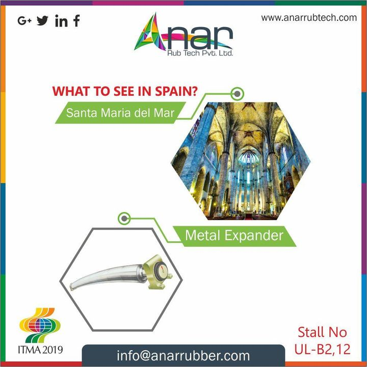 Alfter all that you visited in Spain,  make sure you don't forget to visit ITMA 2019 and extraordinary products like Metal expander by Anar at stall no.  UL B2 B1 #AnarRubTech #RubberRollerManufacturer #RubberRollerExporters #RubberRollerSuppliers