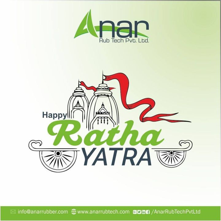 May Lord Jagannath bless you  and weld your life with peace, prosperity and happiness.  #happyrathyatra #lordjagannath #AnarRubTech #RubberRollerManufacturer #RubberRollerExporters #RubberRollerSuppliers