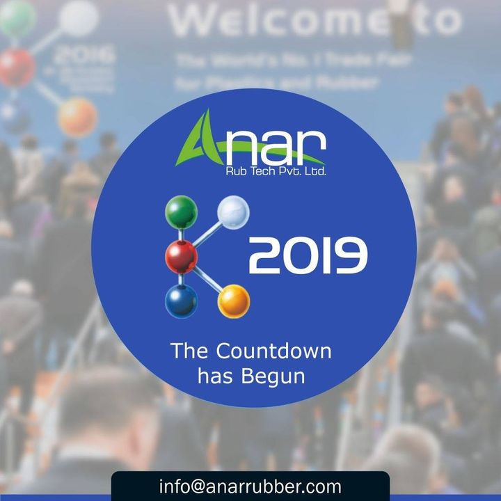 Incredibly Amazing Exhibition Anar Rub Tech can't wait for, is round the corner.  Stay tuned as the count down begins. #K2019 #AnarRubTech #RubberRollerManufacturer #RubberRollerExporters #RubberRollerSuppliers