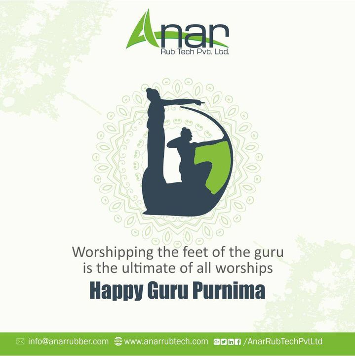 Remembering the teachings of your Guru on this auspicious day of Guru Purnima and make sure to follow the path they have shown us.Happy Guru purnima!  #happygurupurnima #gurupurnima #gurupuja #AnarRubTech #RubberRollerManufacturer #RubberRollerExporters #RubberRollerSuppliers