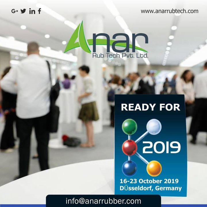 Are you ready for the most exciting exhibition at K 2019? So we are,get your gears on and be there with Anar at K 2019 from 16 to 23 October 2019 #anar #anarrubtech #exhibition2019 #k2019 #RubberRollerManufacturer #RubberRollerExporters #RubberRollerSuppliers