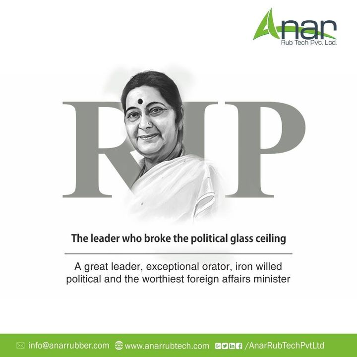 Extremely sad to hear about the passing away of #SushmaSwaraj ji...she was such a dynamic leader, someone who was unanimously admired and respected by all.  #RIPSushmaJi #SushmaSwaraj