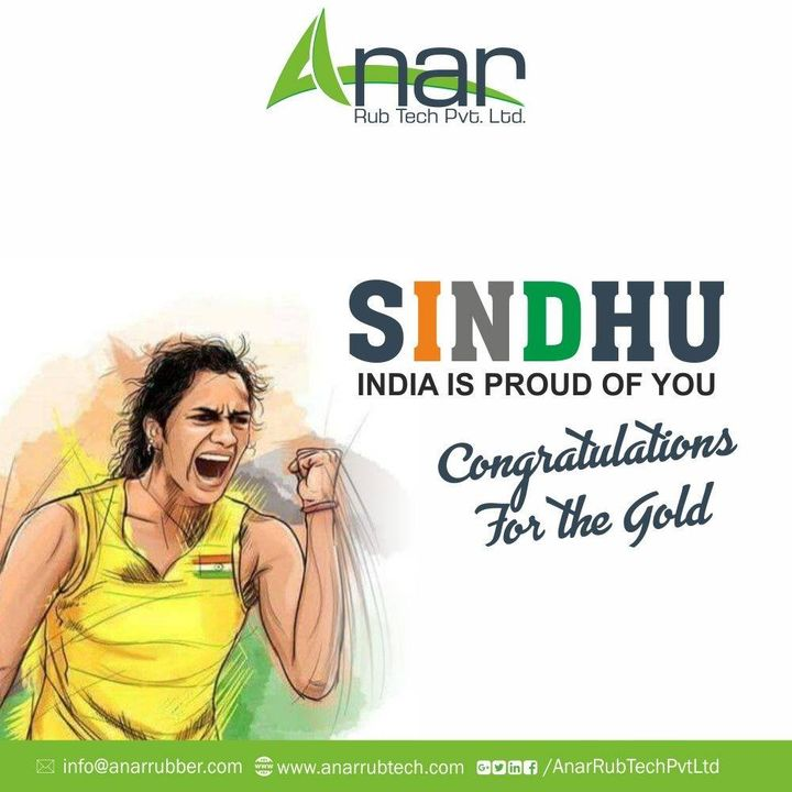 It's the day of glory & celebrations today for every Indian & its credit goes to our badminton champ P.V.Sindhu who won maiden  world badminton championship for her country. #BWFWorldChampionships2019 #pvsindhu #championship #bfw #AnarRubTech #RubberRollerManufacturer #RubberRollerExporters #RubberRollerSuppliers