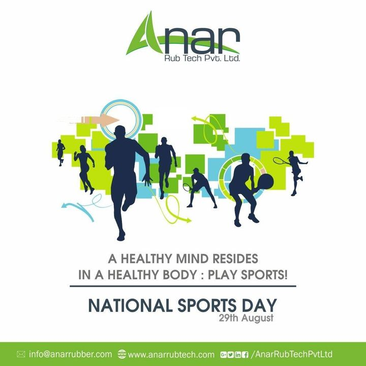Apart from education, you need good health, and for that, you need to play sports.Wishing you very happy National Sports Day..! #NationalSportsDay #dhyanchand #sports #AnarRubTech #RubberRollerManufacturer #RubberRollerExporters #RubberRollerSuppliers
