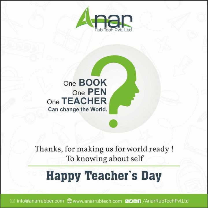 You guide me when i was lost, You supported me when i was weak,  You have enlightened me all through.Happy Teachers Day.!! #teachersday #AnarRubTech #RubberRollerManufacturer #RubberRollerExporters #RubberRollerSuppliers
