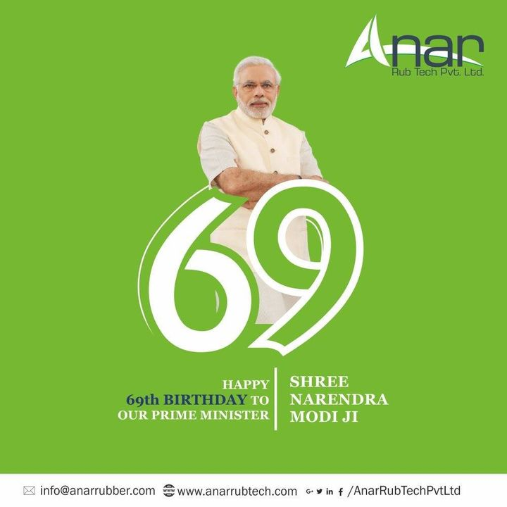 Happy Birthday honorable PM #narendramodi ji. Your vision for a healthier and cleaner India is an inspiration for all.May you always be blessed with good health in life. #AnarRubTech #RubberRollerManufacturer #RubberRollerExporters #RubberRollerSuppliers #pm #narendramodibirthday