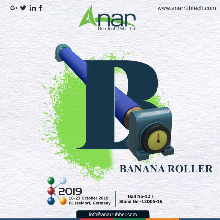 When you have already visited Germany and seen everything, don't miss out the chance to visit #K2019 and #BANANAROLLER products by Anar at Hall No.-12/Stand No.-12D05-16. #Anarrubtech #germany #Rubberrollermanufacturer #exhibition #Rubberrollerexporters #airchuck #airshaft #Rubberrollersuppliers #germanyexhibition