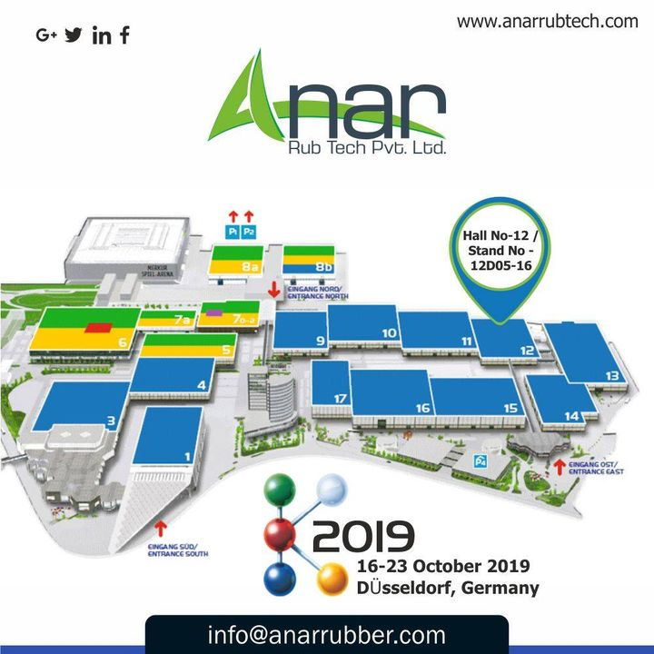 You are cordially invited to check our wide range of Products in K2019 at Hall No 12/Stand No.12D05-16.See you soon! #AnarRubTech #k2019 #germany #Germanyvisitingplace #RubberRollerManufacturer #exhibition #airchuck #airshaft #RubberRollerExporters #RubberRollerSuppliers