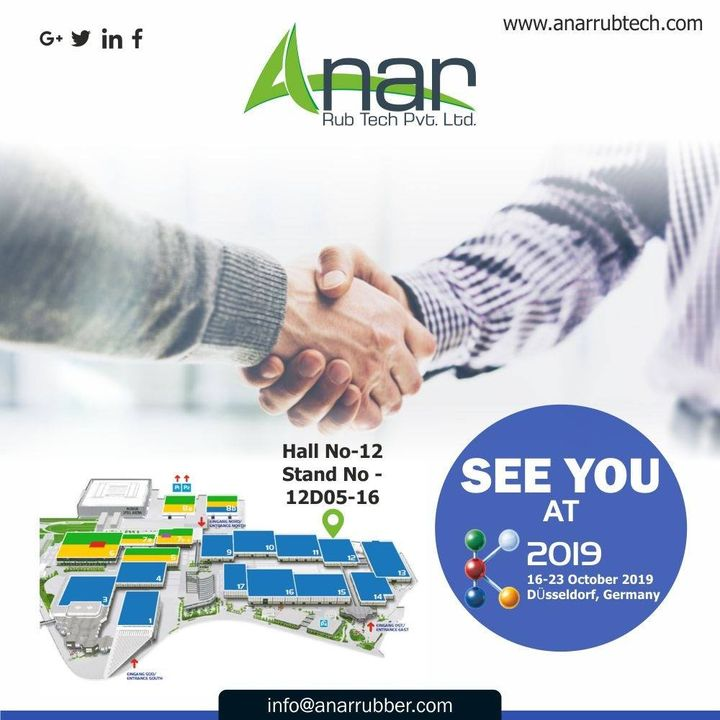 Grab a chance to meet us at K2019 and get to know how we can work together for the betterment of our businesses. #AnarRubTech #k2019 #exhibition #Germany #Germanyexhibition #puroller #safetychuck #rubberproduct #RubberRollerSuppliers #RubberRollerManufacturer #RubberRollerExporters #anar