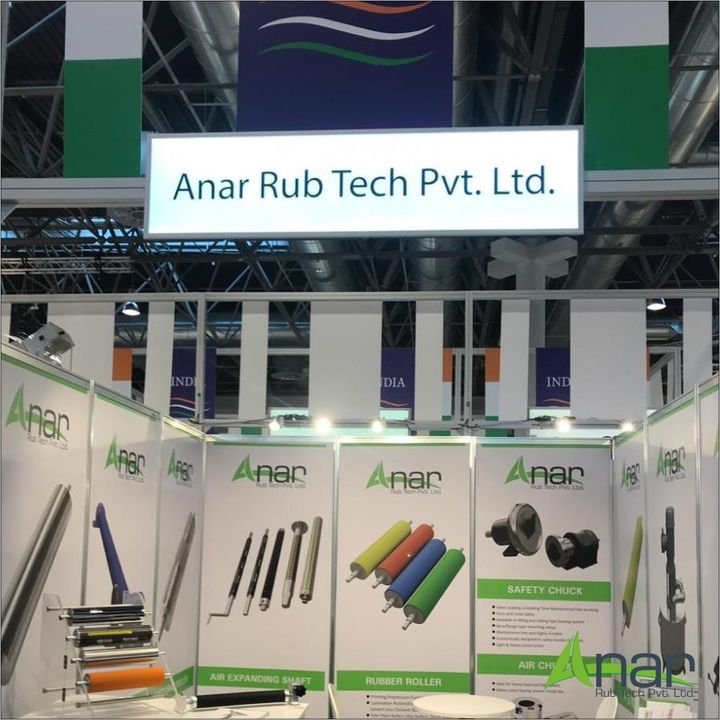 Anar's fabulous range of products in Epic Exhibition k2019 with day1. #AnarRubTech #k2019 #exhibition #germany #anar #day1 #germanyexhibition #puroller #safetychuck #rubberproduct #RubberRollerManufacturer #RubberRollerExporters #RubberRollerSuppliers  #rubbersleeves #AirShafts