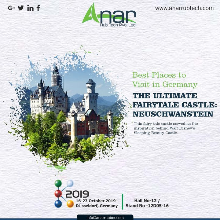 After all that you visited in Germany, make sure you don't forget to visit The Ultimate Fairy tale Castle : NEUSCHWANSTEIN. There you can enjoy the Sleeping Beauty of Castle. #AnarRubTech #k2019 #germany #Germanyvisitingplace #RubberRollerManufacturer #exhibition #RubberRollerExporters #airchuck #RubberRollerSuppliers #airshaft #fairycastle