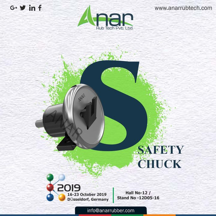 This fabulous range of products with Anar also has Safety Chuck which you can see here at #K2019 along with beautiful Germany. #AnarRubTech #k2019 #exhibition #germany #germanyexhibition #puroller #safetychuck  #RubberRollerManufacturer #anar #rubberproduct #RubberRollerExporters #RubberRollerSuppliers