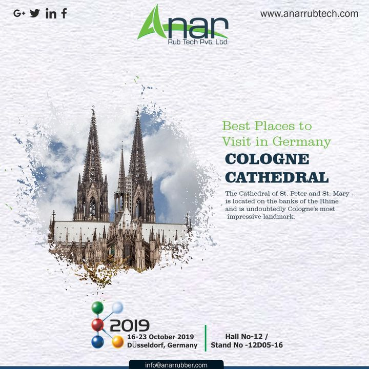 When you have already in Germany and seen everything, don't miss out an opportunity to visit COLOGNE CATHEDRAL. Cologne's most impressive landmark. #AnarRubTech #k2019 #germany #Germanyvisitingplace  #RubberRollerManufacturer #exhibition #airshaft #airchuck #RubberRollerExporters #inkcirculating #RubberRollerSuppliers