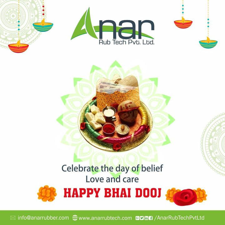 On this auspicious occasion of Bhai Dooj. I pray to lord that you be showers with blessings of prosperity and success.                       Happy BhaiDooj..!! #happybhaidooj #AnarRubTech #RubberRollerManufacturer #RubberRollerExporters #RubberRollerSuppliers