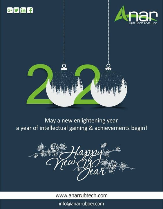 Wish this New Year brings for you lots of joy, happiness, good health and indeed wealth.Have a Rocking Year. #happynewyear #AnarRubTech #RubberRollerManufacturer #RubberRollerExporters #RubberRollerSuppliers