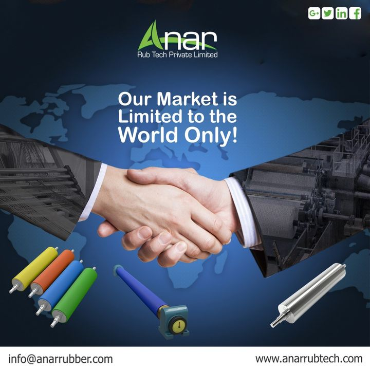 Our Market is Limited to the World Only.!! #AnarRubTech #rubberproduct #RubberRollerManufacturer #rubberroller #RubberRollerExporters #RubberRollerSuppliers