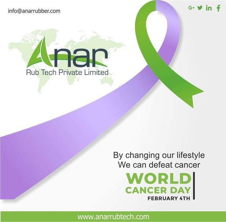 By changing our lifestyle we can defeat cancer. #anarrubtechpvtltd #worldcancerday #rubberroller