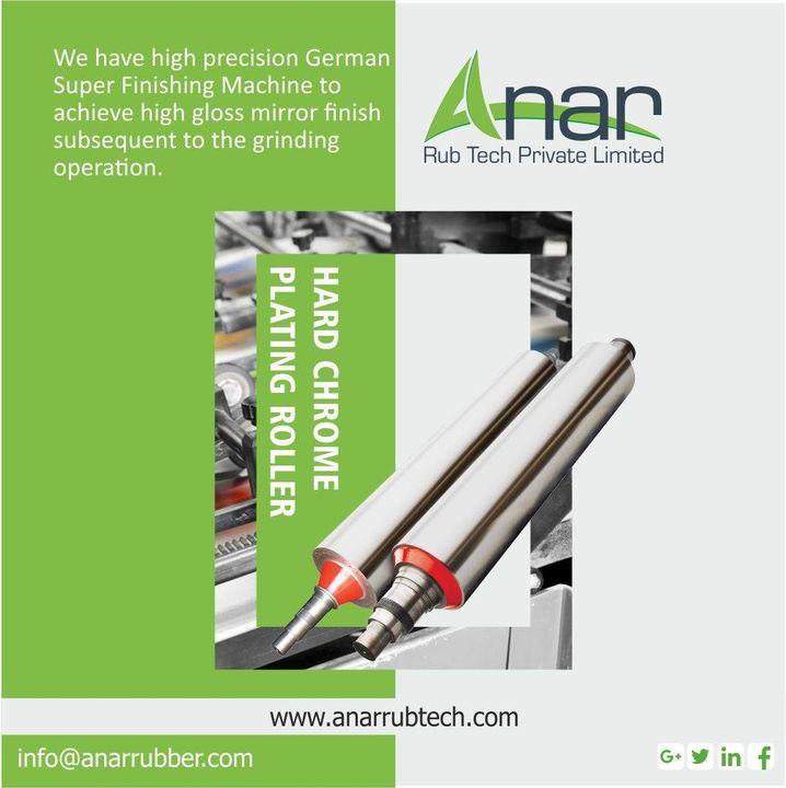 We have high precision German Super Finishing Machine to achieve high gloss mirror finish subsequent to the grinding operation. #AnarRubTech #rubberproduct #RubberRollerManufacturer #rubberroller #RubberRollerExporters #RubberRollerSuppliers