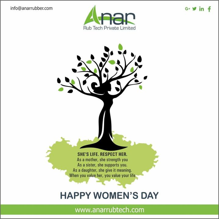 Women are the reason every home is filled with happiness and joy. Here's wishing everyone a very happy and joyful Women's Day 2020! #womensday #AnarRubTech #RubberRollerManufacturer #RubberRollerExporters #RubberRollerSuppliers