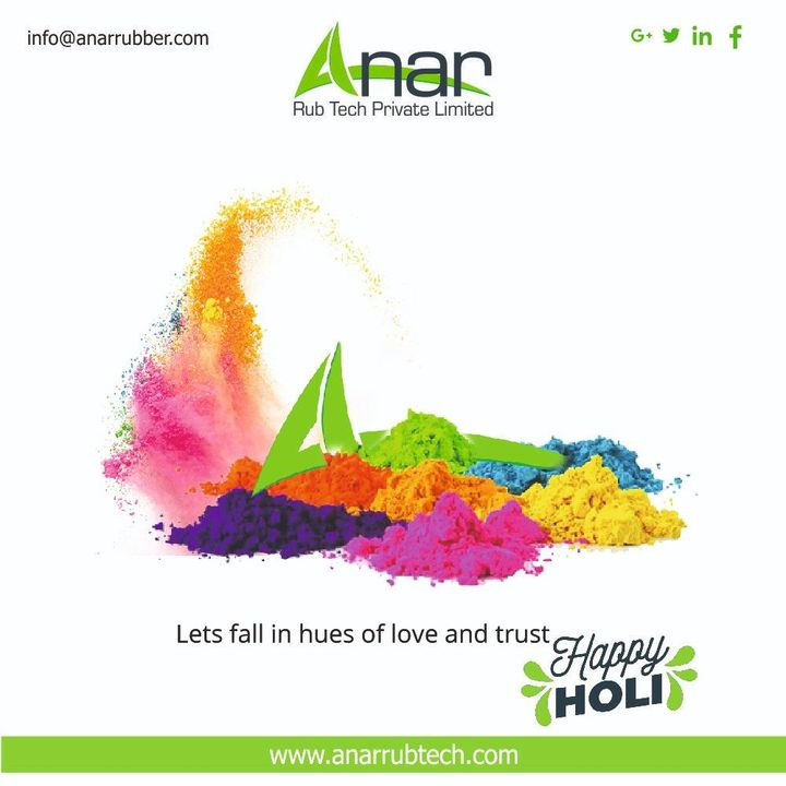 May this festival of colors fill colors in your life. To every shade of you, I wish happy and colorful holi! #holi #dhuleti #happyholi  #AnarRubTech #RubberRollerManufacturer #RubberRollerExporters #RubberRollerSuppliers