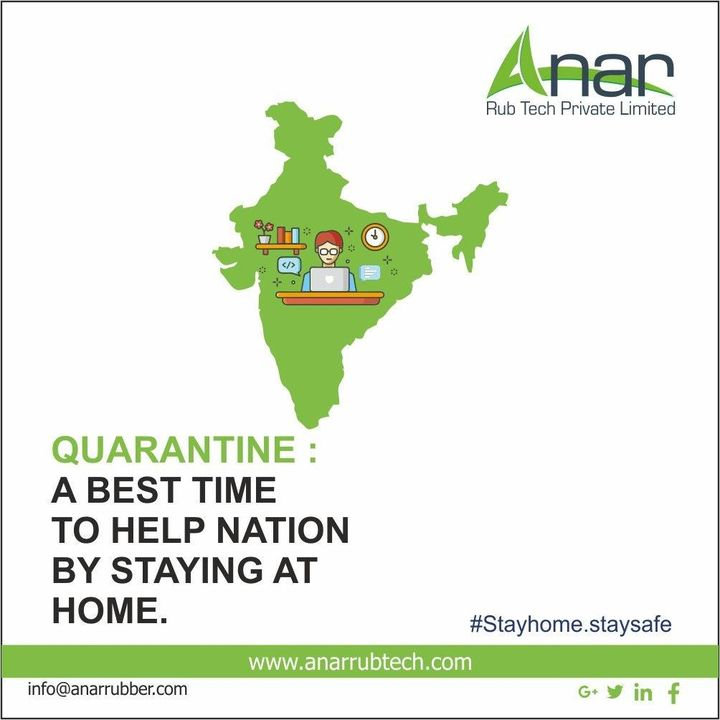 Quarantine : A Best Time to Help Nation By Staying At Home. #stayhome #staysafe #anarrubtech #covid19 #coronavirus