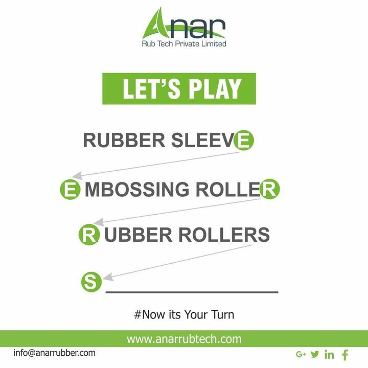 Let's Play the Game. Write your answer in the comment. #rubberroller #anarrubtechpvtltd #rubbersleeves #rubberexpander #rubberproducts #stayhome #staysafe #coronavirus #covid19 #worldhealthday