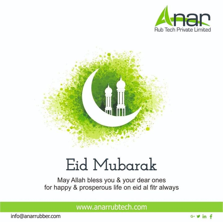 May the God Almighty open the doors of happiness for you and fulfil all your dreams. Eid Mubarak to you and your family! #rubberroller #anarrubtechpvtltd #rubbersleeves #rubberexpander #rubberproducts #stayhome  #Eidmubarak