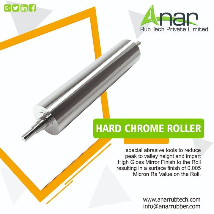 Hard Chrome Roller extensively used in textile, paper, printing, plastic and other industries. Available in different lengths, sizes, dimensions and technical specifications. #HardchromeRoller #cromeplatedroller #anarrubtechpvtltd #anarrubber #supermirrorfinishroller #Lūkklîngḥār̒dkhorm Call - +91 98250 47390  website - http://anarrubtech.com/