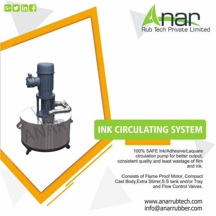 100% SAFE Ink/Adhesive/Laquare circulation pump for better output, consistent quality and least wastage of film and ink. #HardchromeRoller #cromeplatedroller #anarrubtechpvtltd  #supermirrorfinishroller #Lūkklîngḥār̒dkhorm Call - +91 98250 47390 website - http://anarrubtech.com/