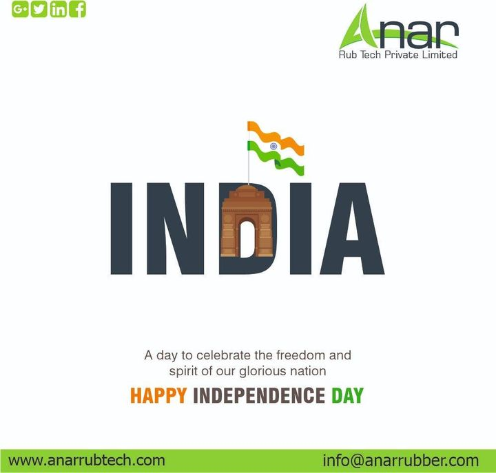 Today let us take some time to value our nation and never forget the sacrifices from those who gave us freedom. Happy Independence Day! #rubberroller #anarrubtechpvtltd #rubbersleeves #rubberexpander #rubberproducts #happyindependenceday