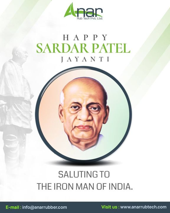 There is something special in the soil of this country, which has always been the land of great souls despite many obstacles. #sardarvallbhbhaipatel #ironman #anarrubtechpvtltd #rubberroller