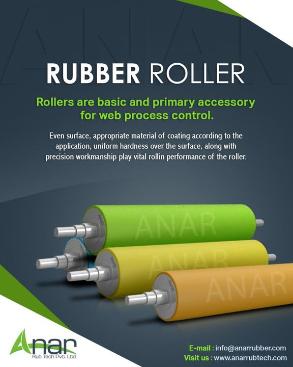 Rollers are widely used components that serve the simple yet surprisingly diverse functions of facilitating and processing material and product movements in manufacturing and/or industrial settings. #rubberroller #anarrubtechpvtltd #anarrubtech #bananaroller #embossingroller