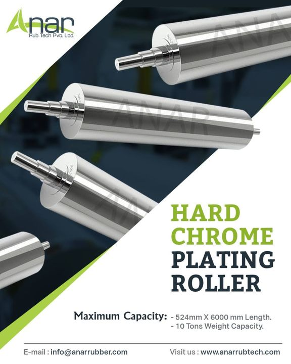 We manufacture and supply affordable range of HCP rollers in India. The hard chrome plated rollers find application mainly in different industries like textile, packaging, tyre industry and paper industry.  We make high-quality HCP rollers at our state-of-the-art production unit in Ahmedabad, Gujarat.  Our rollers are widely accepted in India as well out of the country. All our clients have all praises for our rollers for effective functioning and brilliant resistance against corrosion. The products are making many industrial operations quick and simple.  Anar Rub Tech Pvt Ltd is also a prominent exporter and supplier of Hard Chrome Plated Rollers. The products are coated and supplied as per application and web material for which they will be used.  Rollers we supply are meant to give 100% customer satisfaction with remarkable features like better ink transfer, accurate dimensions, hardness, accurate binding, non-tacky surface, and tensile strength.  If you are looking for a supplier of industrial rollers, Anar Rub Tech Pvt Ltd is able to fulfil all your needs with consistent quality and customized sizes and advanced designs. #hcproller #hardcromeroller #cromeplatedroller #steelroller #mirrorroller #supermirriorfinishroller #paperindustry #plasticindustry #packgingindustrys #printingindustry #plywoodindustry #anarrubber #anarrubtechpvtltd