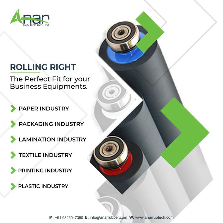 Anar Rub Tech,  rubberroller, rubbersleeve, airshaft, safetychuck, bowroller, bananaroller, rubberexpander, embossingroller, manufacturingindustry, plasticindustries, paperindustry, textileindustry, polyester, rollers, dyeing, anarrubtechpvtltd, equipments, equipmentsupplier, rubberindustry, aniloxroller, labelprinting, rollers, import, export, importexport