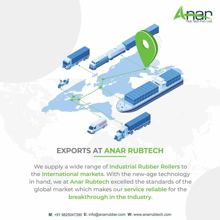 Anar Rub Tech,  Anarrubber, export, exports, exporter, exporters, exportquality, Manufacturing, rubberroller, Rubber, Rollers, processing, material, productionspeeds, equipmentsupplier, rubberindustry, importexport, manufacturers, suppliers, Ahmedabad, Gujarat, India, rubberrollerexports, anarrubtechpvtltd